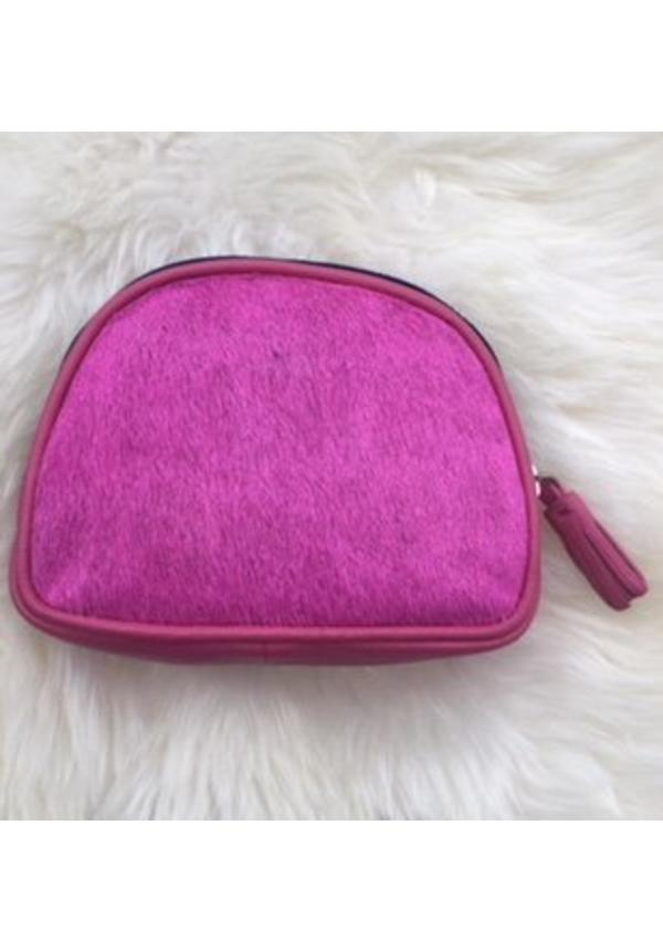 Furry pouch pink