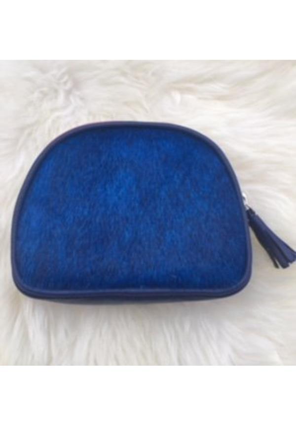 Furry pouch blue