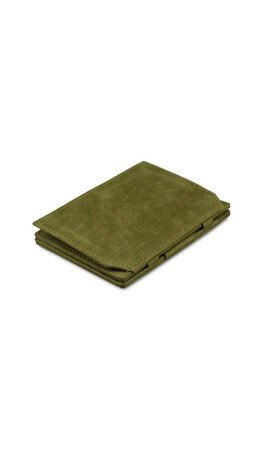 Garzini Magic Wallet Coin Pocket Olive Green