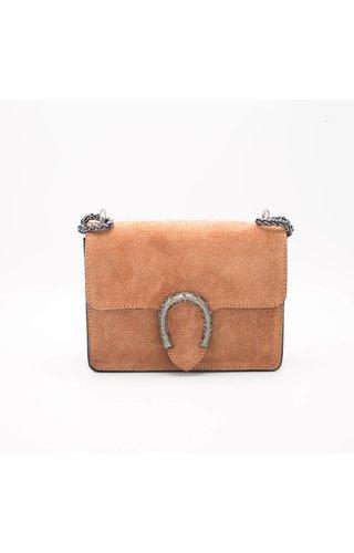IT BAGS Little inspired bag suede Koraal