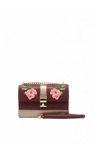 Tom & Eva Flower Bag Bordeaux