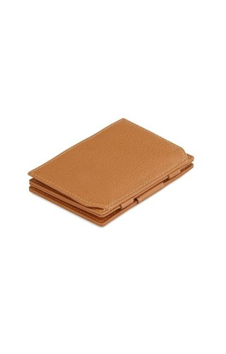 Magic Wallet Coin Pocket Nappa Cognac