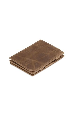 Garzini Magic Wallet Coin Pocket Brushed Brown