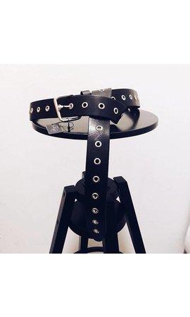 Elvy Extra long belt 40 Black/Silver