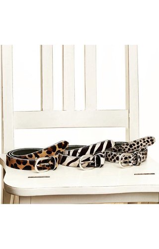 Elvy Belt Skin Zebra mt.85