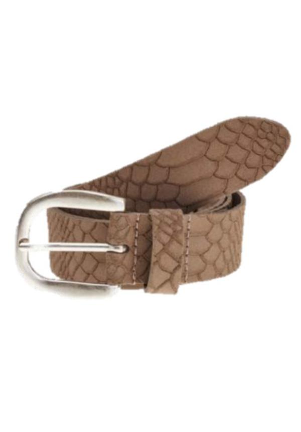 Belt Scale Taupe Suede mt.85