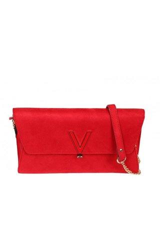 Valentino Handbags Flash Suede Clutch Rosso
