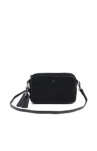 MarkBerg Jayla Crossbody Bag Suede Black