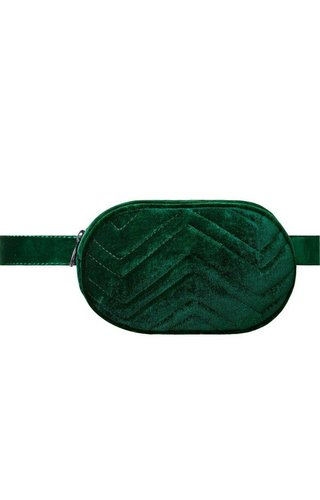 Tom & Eva Velvet bum bag groen