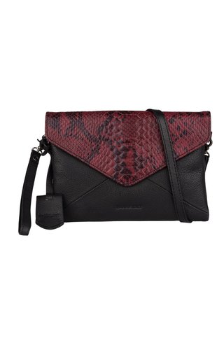 Burkely Evening Snake Clutch Bordeaux