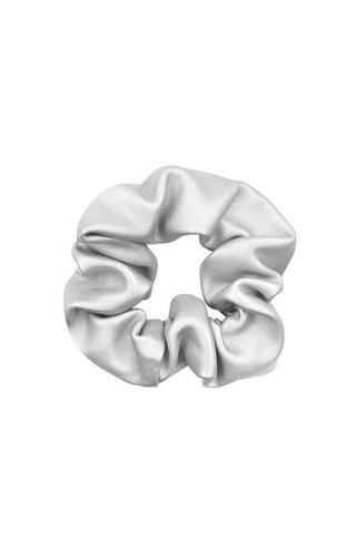 My Jewellery Faux leather scrunchie Zilver