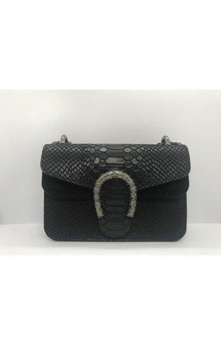 IT BAGS Little Inspired Bag Croco Zwart Extra