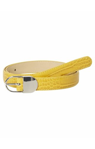 Pieces Briah Jeans Belt Lemon Chrome