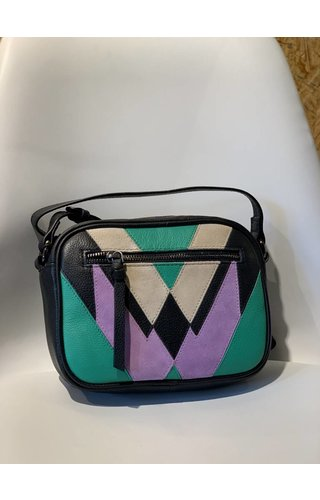 Pieces Sasja Leather crossbody Simply Green