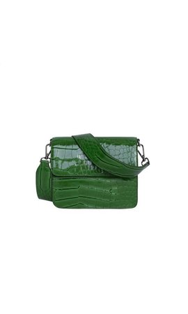 Hvisk Cayman Shiny Strap Bag Grass Green
