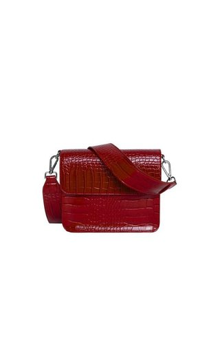 Hvisk Cayman Shiny Strap Bag Wine red