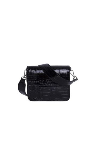 Hvisk Cayman Shiny Strap Bag Black