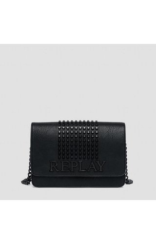 Replay Crossbody met studs zwart