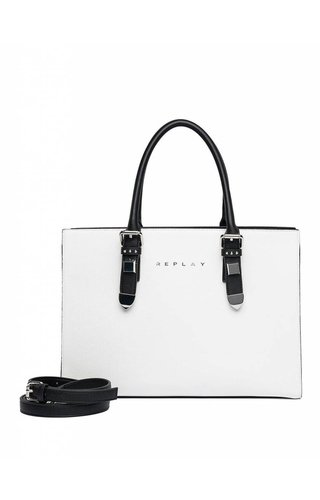 Replay Black Optical Handbag White