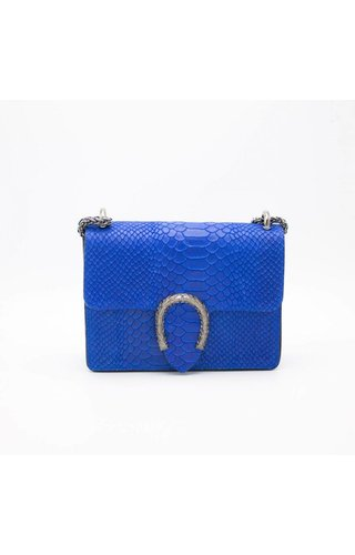 IT BAGS Little inspired bag croco cobalt