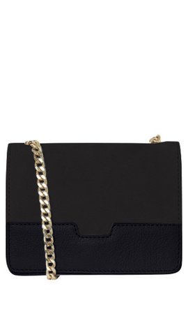 Pieces Beate Leren Crossbody Black