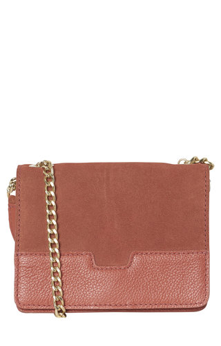 Pieces Beate Leren Crossbody Redwood