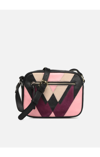 Pieces Sasja Leather crossbody Candy Pink