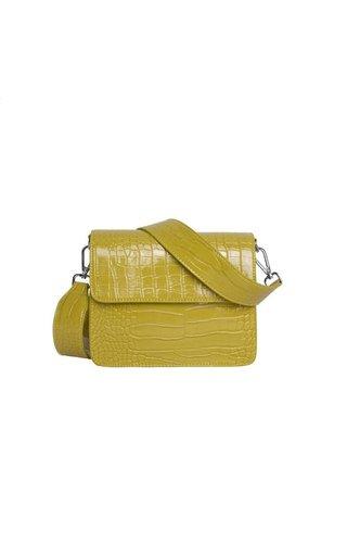 Hvisk Cayman Shiny Strap Bag Yellow
