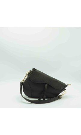 IT BAGS Inspired Saddle Bag Black
