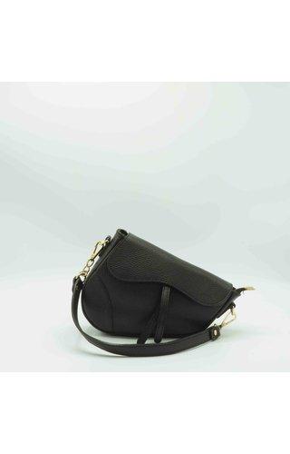 IT BAGS Inspired Saddle Bag Black