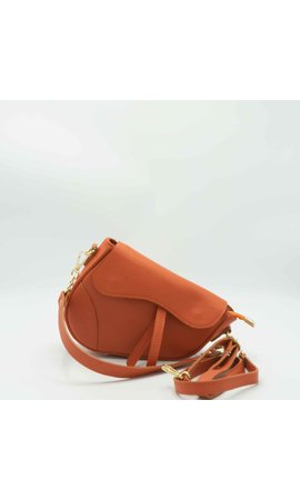 IT BAGS Inspired Saddle Bag Burnt Orange