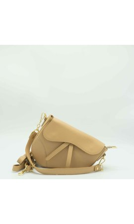 IT BAGS Inspired Saddle Bag Creme