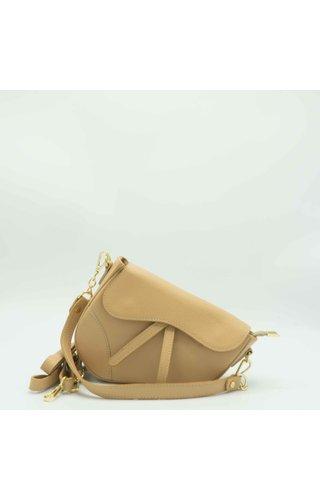 IT BAGS Inspired Saddle Bag Creme