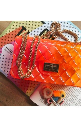 IT BAGS Inspired gummy bag pink/orange