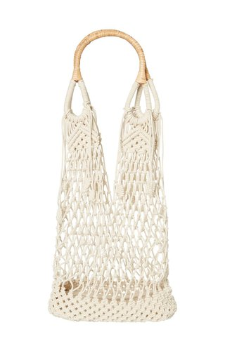 Pieces Cherry Macrame Bag Nature