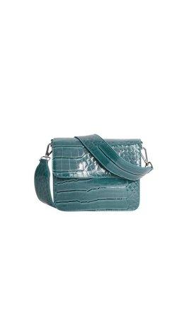 Hvisk Cayman Shiny Strap Bag Blue