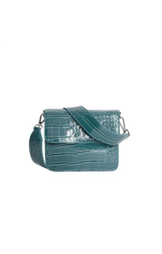 Hvisk Cayman Shiny Strap Bag Blue