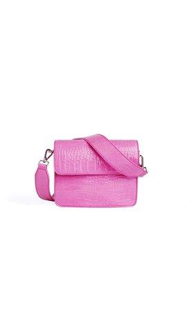 Hvisk Cayman Shiny Strap Bag Pink