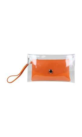 Baggyshop Transparent Bag Orange