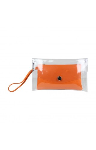 Baggyshop Transparent Bag Orange