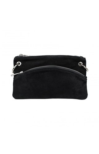 Baggyshop Half circle zipper black