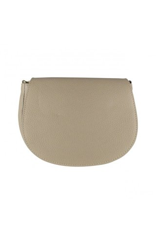 Baggyshop Half moon leather taupe