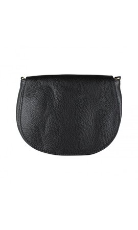 Baggyshop Half moon leather Zwart