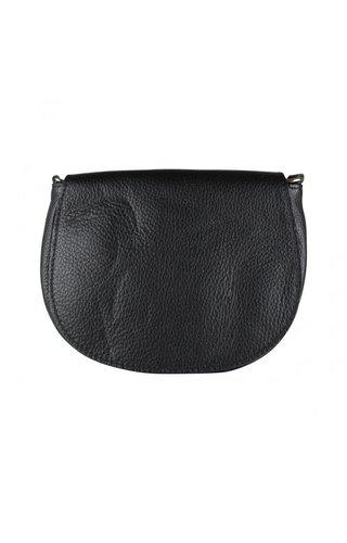 Baggyshop Half moon leather Zwart