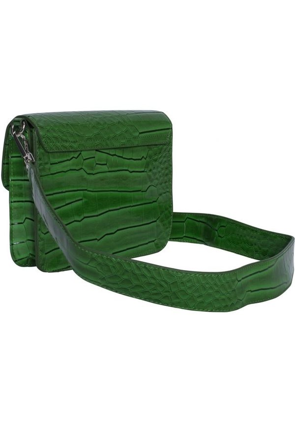 Cayman shiny strap bag Green