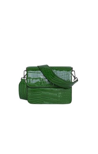 Hvisk Cayman shiny strap bag Green