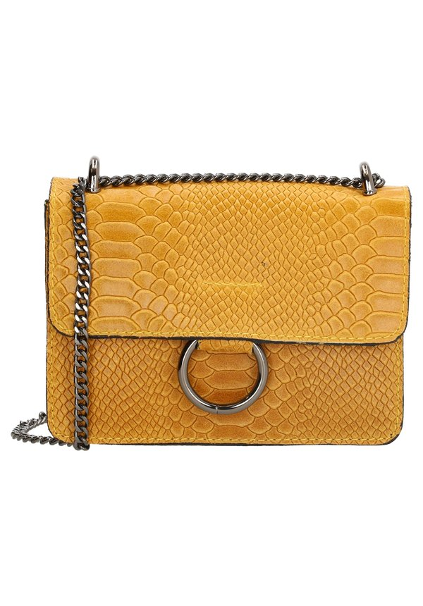 Ring Croco Bag oker