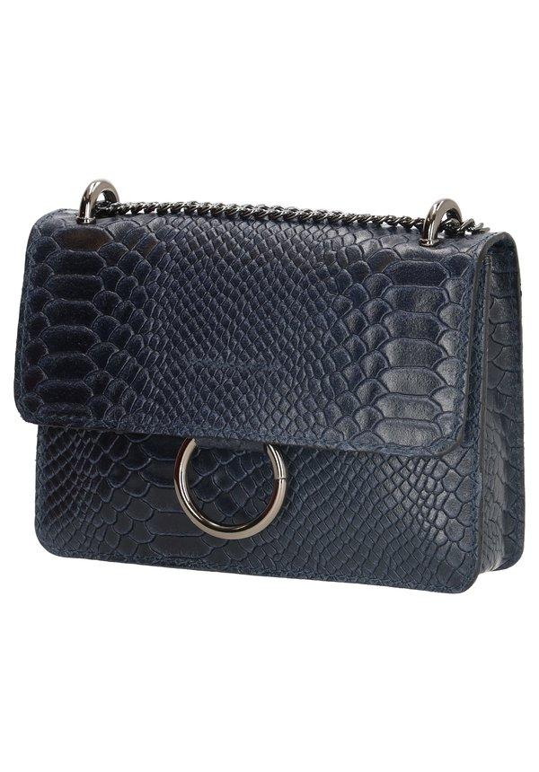 Ring Croco Bag Navy