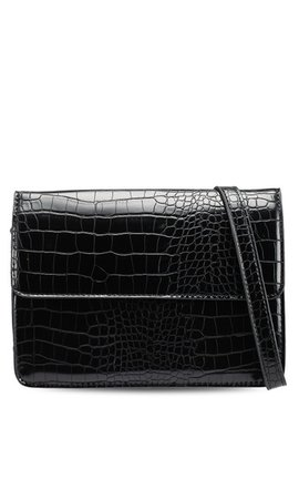 Pieces Julie Crossbody Croco Black