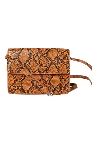 Pieces Julie Crossbody Snake Cognac